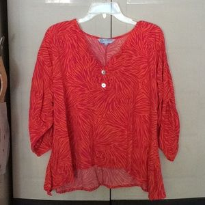 Blouse xl by escapade flowy 3/4 length sleeves